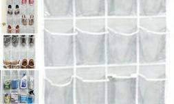 24 Pockets Large Clear Pockets Over The Door Hanging Shoe Or
