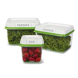 Rubbermaid FreshWorks Produce Saver Food Storage Containers,