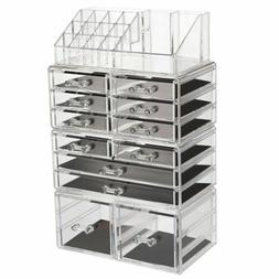 Acrylic Cosmetic Organizer Makeup Case Holder Drawers Jewelr