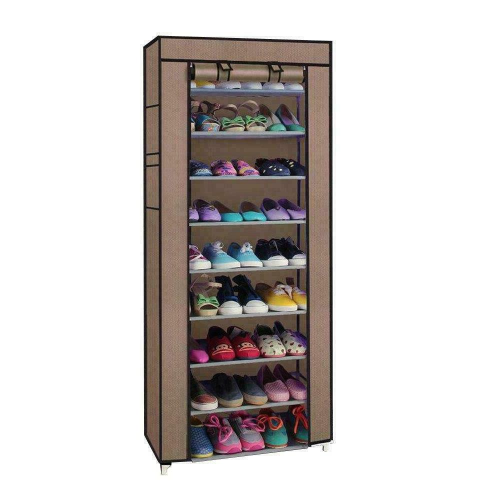 10 Layer Shoes Storage Dustproof Standing Space