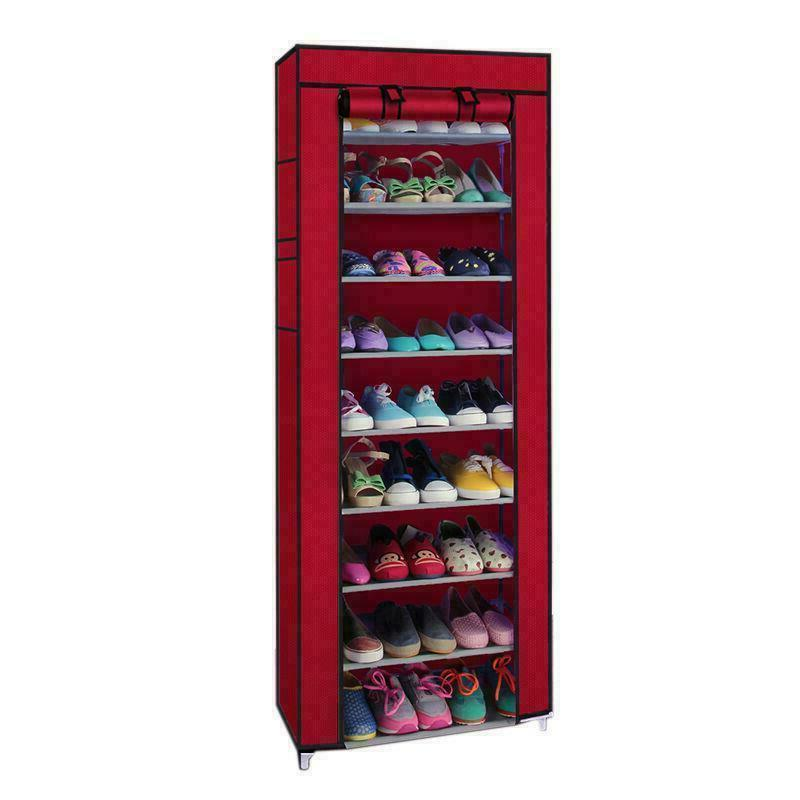 10 Layer Shoes Storage Shoe Dustproof Standing Space