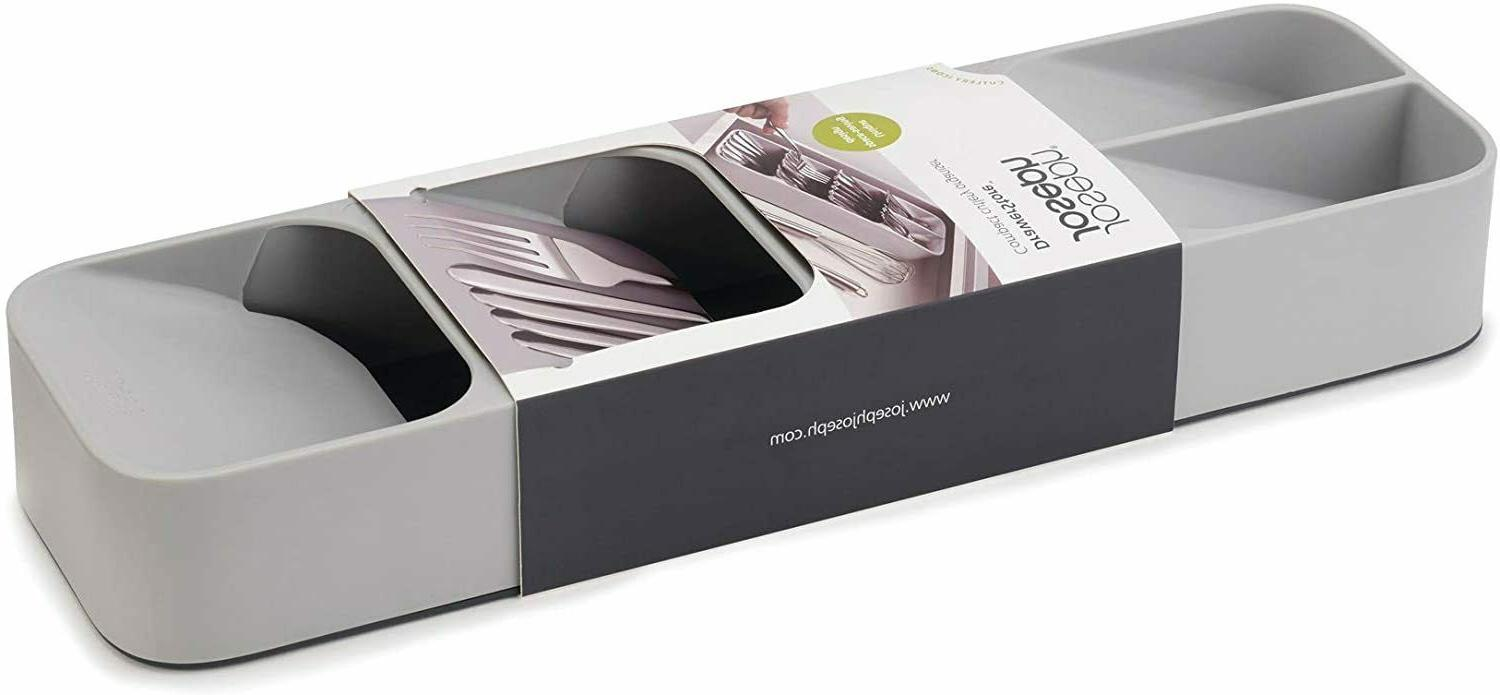 DrawerStore Tray for Cutlery Gray