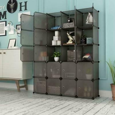 Multi-Cube Stackable Storage Organizer Shoes Clothes Shelvin