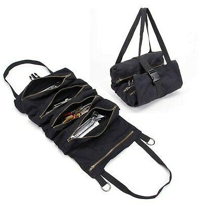 wrench organizer with 5 zipper tool bags