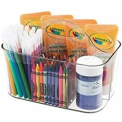 mDesign Art Supplies, Crafts, Crayons and Clear Sewing Organ