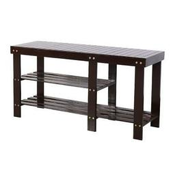 NEW Bamboo Shoe Rack Bench for Boots Entryway Storage Organi