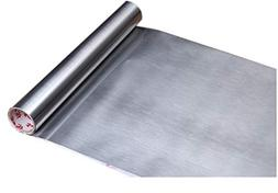 Glow4u Peel and Stick Brushed Stainless Steel Contact Paper